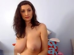 Chick Shakes Her Huge Boobs video on WebcamWhoring.com