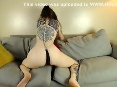 Watch brunette mistress toying her ass in fetish solo video on WebcamWhoring.com