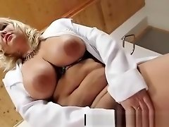 Filthy blonde big tits milf in nurse uniform video on WebcamWhoring.com