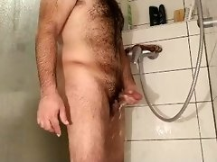 Haired Man Masturbate in the Shower, at cum balls shrink video on WebcamWhoring.com