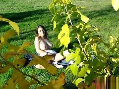 busty teen fucks a voyeur in the park video on WebcamWhoring.com