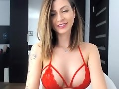 Perfect Huge Boobs Camgirl Shows Off Her Tight Body video on WebcamWhoring.com