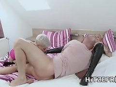 HITZEFREI Two tattooed German blondes share a cock video on WebcamWhoring.com