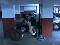 Dirty babe sucks and rides hard rod on the parking lot spy cam video on WebcamWhoring.com
