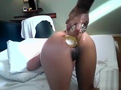 Brutal anal fisting and whiskey bottle insertions video on WebcamWhoring.com