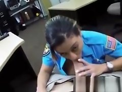Police amateur facialized for quick cash video on WebcamWhoring.com