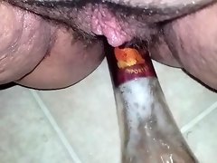 Bottle in pussy video on WebcamWhoring.com