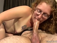 Natural Red Head Ivy Sucks Hubby off until his cock pulsates in her mouth video on WebcamWhoring.com
