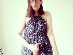 Getting Off in a Dress video on WebcamWhoring.com