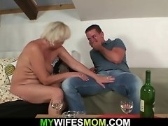 He bangs her old hairy cunt from behind video on WebcamWhoring.com
