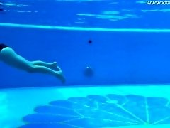 Hot Spanish and Russian teen in the pool naked video on WebcamWhoring.com