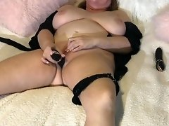 Busty Raven Blindfolded and Dildo Play (p2 ) video on WebcamWhoring.com