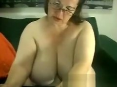 Big fat BBW granny with big boobs smokes video on WebcamWhoring.com