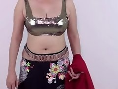 Sexy Style Girls Draping Her Saree Showimg Boobs Cleavage & Downblouse video on WebcamWhoring.com