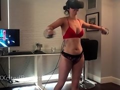 XXXcitedBrunette - Playing VR in Panties #1 (Beat Saber Compilation) video on WebcamWhoring.com