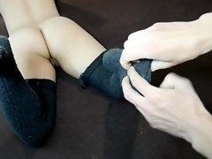 Tickling MILF's Feet in Gray Stockings ~DirtyFamily~ video on WebcamWhoring.com