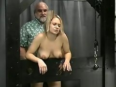 Busty girl spanked video on WebcamWhoring.com