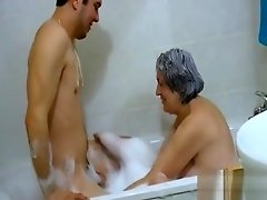OmaHoteL Hairy Grandma and Lusty Couple Threesome video on WebcamWhoring.com