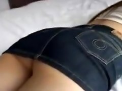 Gorgeous babe with a splendid ass gets her hairy pussy gent video on WebcamWhoring.com