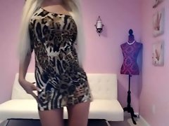 Amazing blond babe tease you a sexy dress video on WebcamWhoring.com