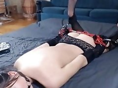 hogtied girl webcam orgasm video on WebcamWhoring.com