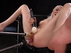 Blonde mature gets two fucking machines video on WebcamWhoring.com