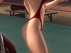 DOA5U Ryona Christie Rare Swimsuit - Boardbreaker Punch (slow) video on WebcamWhoring.com