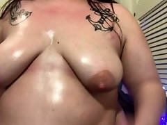 Pretty BBW Plumper Turns you down, humiliates you and oils tits, JOI. video on WebcamWhoring.com