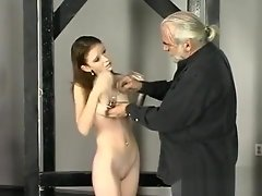 Superb nudity in extreme bondage video on WebcamWhoring.com