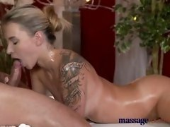 Massage Rooms Horny tattoo girl has her tight hole fingered and fucked video on WebcamWhoring.com