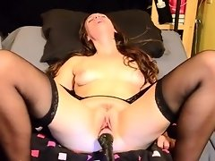 Brunette Gets Off With a Fucking Machine video on WebcamWhoring.com