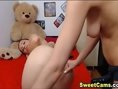 Two Lesbian Hottie Loves To Drill Each Other Pussy video on WebcamWhoring.com