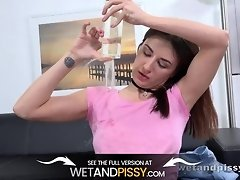 Hot Brunette Drenched Herself In Golden Piss video on WebcamWhoring.com