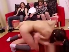 Young girls dance for grandpa before suck his cock video on WebcamWhoring.com