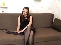 The lady in the nylon! video on WebcamWhoring.com
