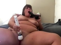 Fucking My Face with Big Black Dildo While Playing with my Pussy video on WebcamWhoring.com