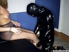 Humping his Domina's Nylon Panthose video on WebcamWhoring.com