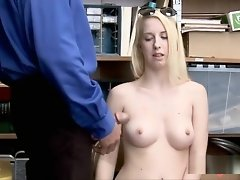 Perky blonde caught and fucked at LP office video on WebcamWhoring.com