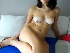 Tanned brunette babe with nice tits playing with her pussy video on WebcamWhoring.com