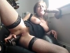 Webcam Model Double Penetrating Herself With Two Huge Dildos video on WebcamWhoring.com