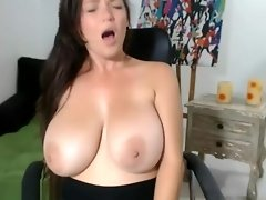 Busty Amateur Girl Showing Her Melons video on WebcamWhoring.com