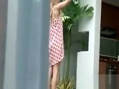 Blonde russian honey Sasha teasing her snatch outdoor video on WebcamWhoring.com