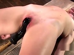 Bound slave pussy and anal toyed video on WebcamWhoring.com
