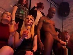 Glam euro babes suck cock at big party orgy video on WebcamWhoring.com