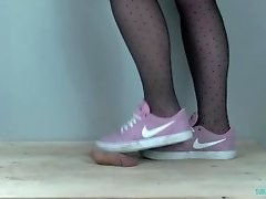 Pink Nike SB Cock Crush and Shoejob with Spitting video on WebcamWhoring.com