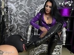 Mistress Kennya: Slave trained to suck dick and clean My Boots Preview video on WebcamWhoring.com