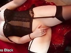 English girl masturbates in lingerie and stockings video on WebcamWhoring.com