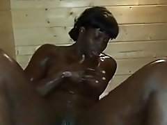 African Flower Loves The Sauna.. video on WebcamWhoring.com
