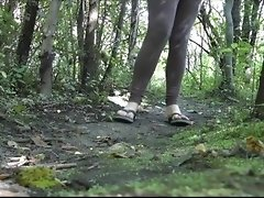 Making a puddle on the muddy path in the forest video on WebcamWhoring.com