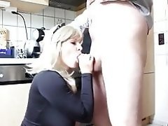 blonde milf with big natural tits getting fucked in kitchen video on WebcamWhoring.com